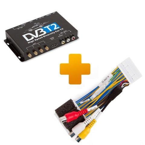 Цифровой тюнер DVB T2 и кабель подключения для мониторов Toyota Touch 2 Entune