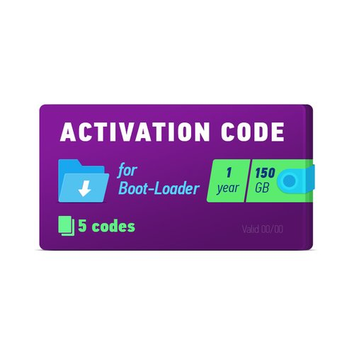 Boot-Loader 2.0 Activation Code (1 year, 5 codes x 150 GB)