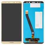 LCD compatible with Huawei Mate 10 Lite, (golden, with touchscreen, Original (PRC), RNE-L01/RNE-L21)