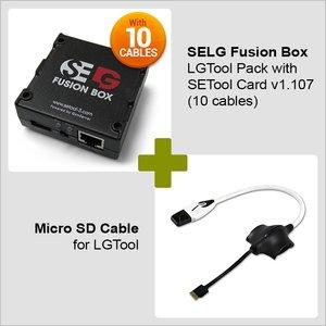 Caja SELG Fusion Box  con tarjeta  SE Tool  v1.107 y juego de cables (10 cables) + cable Micro SD para LGTool