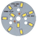 Placa PCB con diodos LED de 5 W (luz blanca fría, 600 lm, 50 mm)