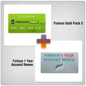 Продление доступа в зону поддержки Furious на 1 год + Furious Gold Pack 2