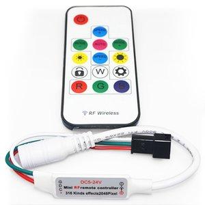 Контроллер с РЧ пультом SP103E (RGB, WS2801, WS2811, WS2812, WS2813 5 В)