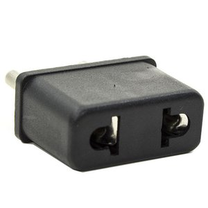 Mains Adapter, US-EU, Black